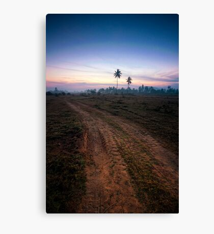 Waiting for the light Canvas Print
