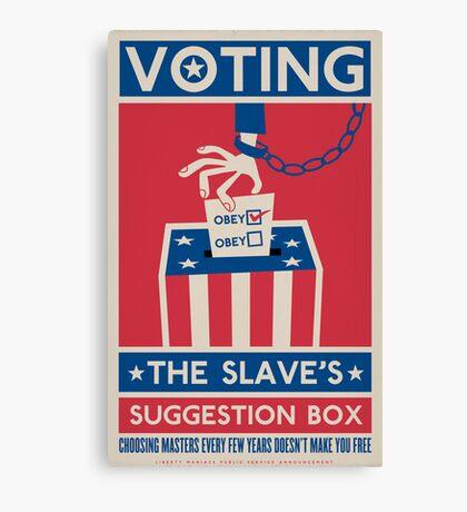 Voting Canvas Print