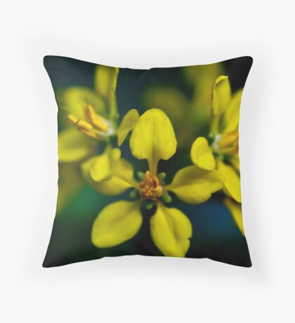 Beautiful Yellow Blur Throw Pillow
