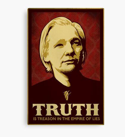 Julian Assange Truth Is Treason Canvas Print