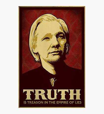 Julian Assange Truth Is Treason Photographic Print
