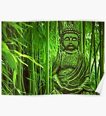Bamboo with Buddha Poster