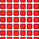 Seeing Spots Red & White Cube Grid Illusion by EvePenman