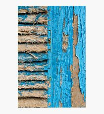 Old Blue Shutter III Photographic Print