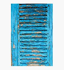 Old Blue Shutter II Photographic Print