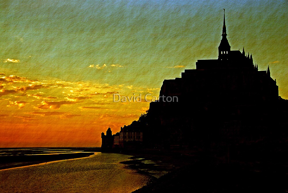 Mont Saint Michel, France (The Marvel) at Sunset by David Carton