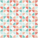 Geometric Pattern: Quarter Circle: Summer by * Red Wolf