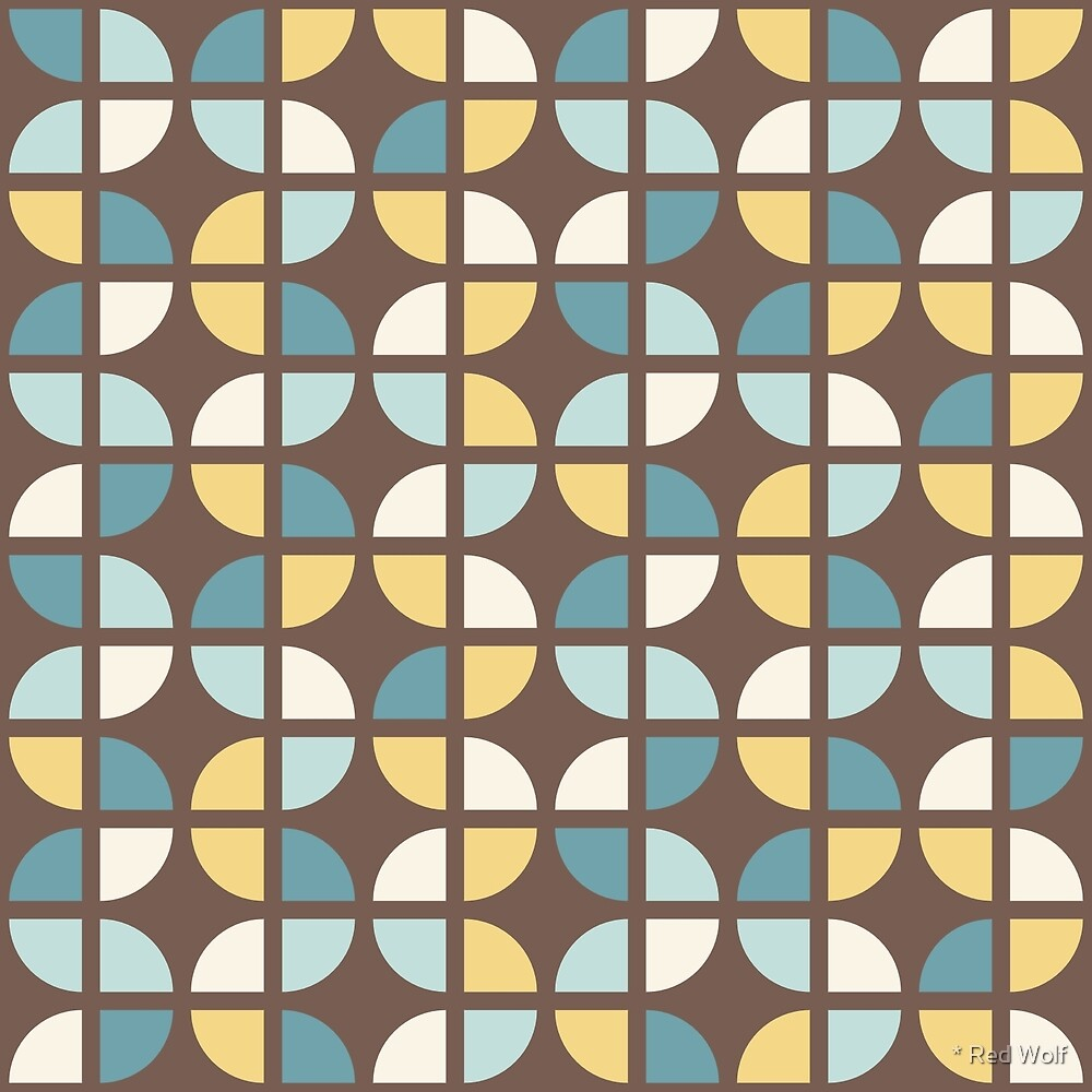 Geometric Pattern: Quarter Circle: Autumn by * Red Wolf