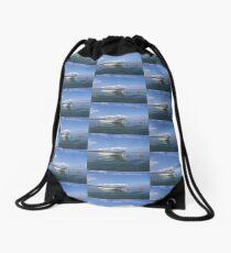 Floating In Blue & White Drawstring Bag
