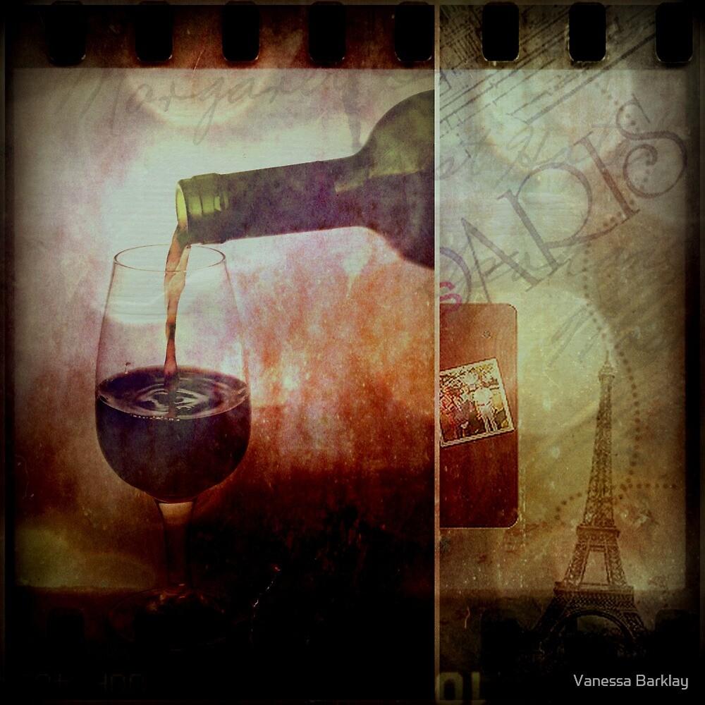 Memories of Red Wine In Paris by Vanessa Barklay