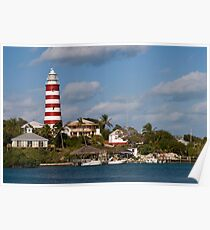 Hope Town Lighthouse, Abaco, Bahamas Poster