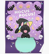 Hocus POCUS! Lucky the Black Cat Poster