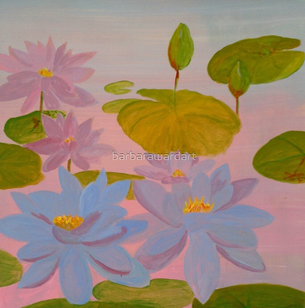 Waterlilies by barbarawardart