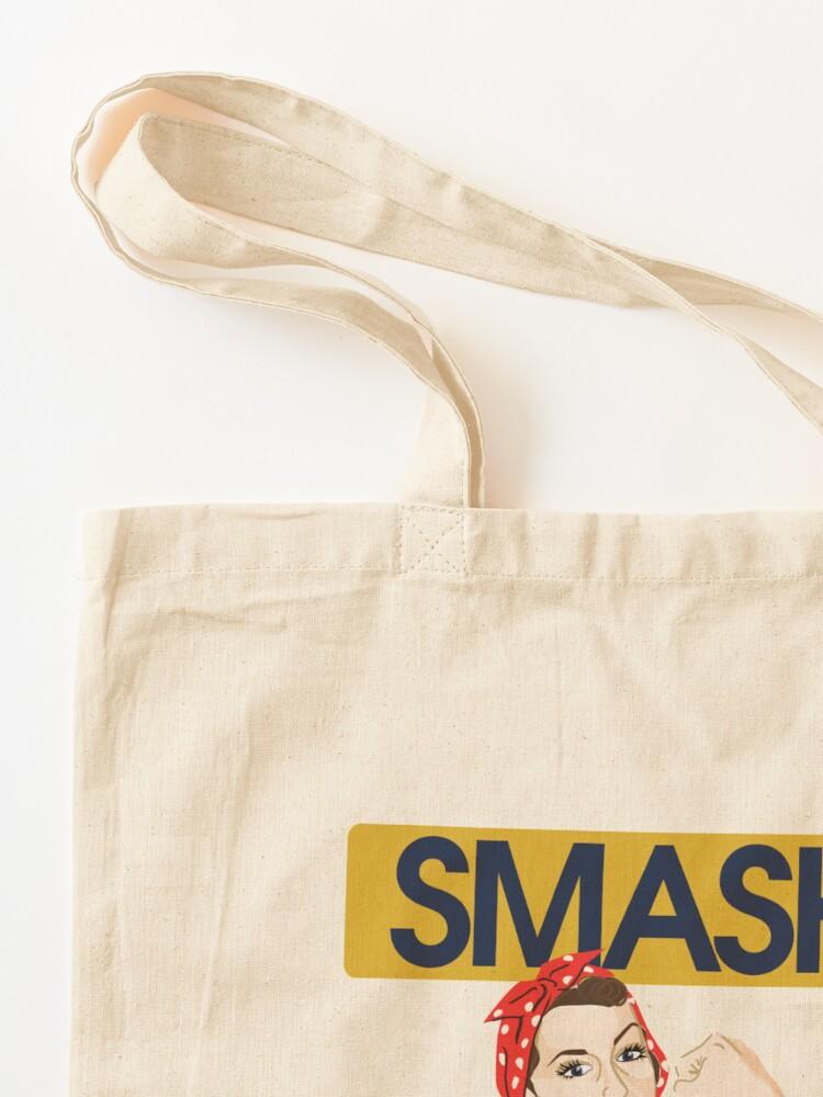 Alternate view of SMASH the patriarchy rosie riveter Tote Bag