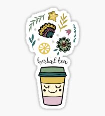 Herbal tea Glossy Sticker