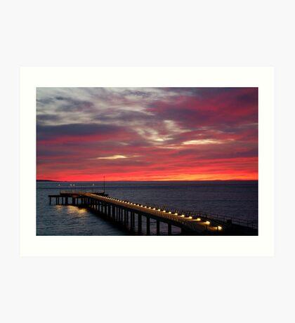 Sunrise Lorne Pier, Great Ocean Rd Art Print
