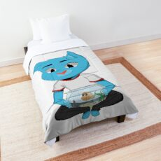 Gumball With Baby Darwin Comforter