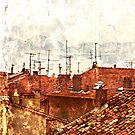 roofs of the old Cannes by olga  hutsul