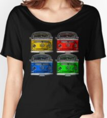 Multi colors Volkswagen kombi Women's Relaxed Fit T-Shirt