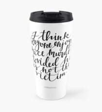Alfred Hitchcock Quote - Movies Travel Mug