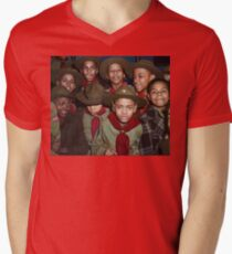 Troop 446 Boy Scouts meeting in Chicago, 1942 V-Neck T-Shirt