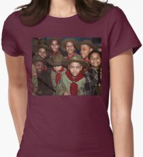 Troop 446 Boy Scouts meeting in Chicago, 1942 Fitted T-Shirt