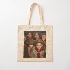 Troop 446 Boy Scouts meeting in Chicago, 1942 Cotton Tote Bag