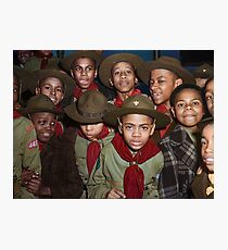 Troop 446 Boy Scouts meeting in Chicago, 1942 Photographic Print