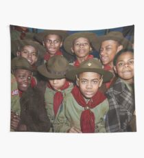 Troop 446 Boy Scouts meeting in Chicago, 1942 Wall Tapestry