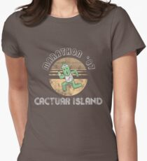 Cactuarathon- Final Fantasy Parody Women's Fitted T-Shirt