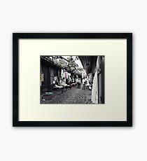 Shopping in Safranbolu. Framed Print