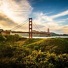 Golden Gate Sunset by wulfman65
