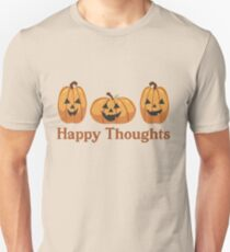 Happy Thoughts + Pumpkins (Ashley Scott Designs - Fall Collection) Slim Fit T-Shirt