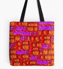 Crowded Commuters Tote Bag