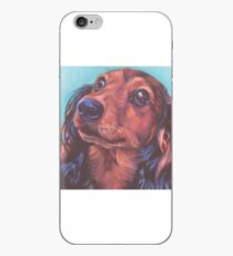 Dachshund Fine Art Painting iPhone Case