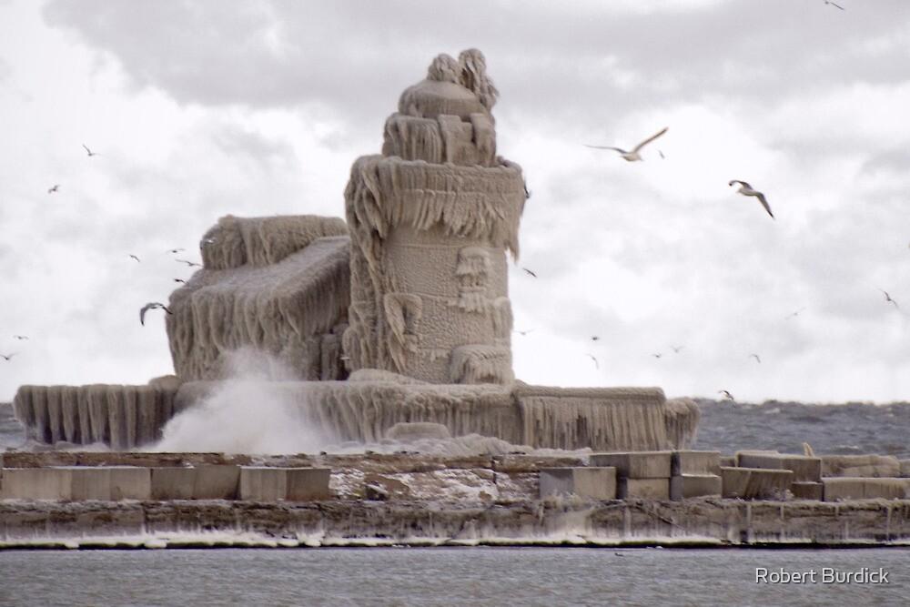 """Lighthouse Under Ice"" by Robert Burdick"