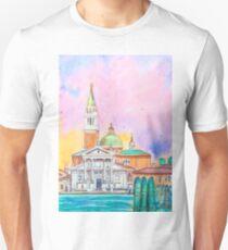 Venice. Isle of San Giorgio Maggiore. Andrea Palladio architecture. watercolor Unisex T-Shirt