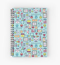 Proud To Be a Nurse / Surface Pattern Design / Blue Spiral Notebook