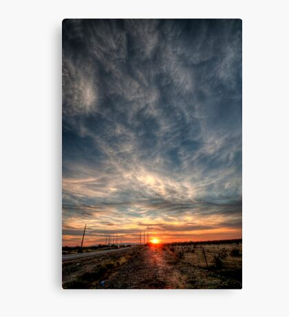 Sunset over Phoenix Canvas Print