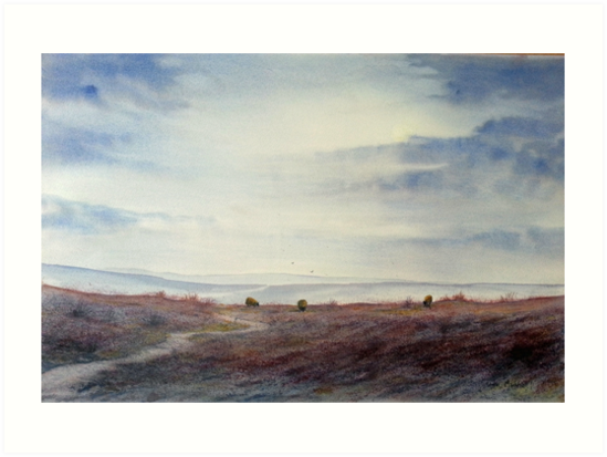 Twilight Settles on the Moors by Glenn  Marshall
