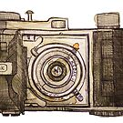 Camera Sketch by Kelli Crockett by kellincrockett
