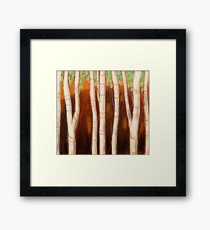 """""""White Forest"""" Framed Print"""