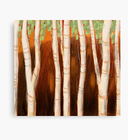 """White Forest"" Canvas Print"