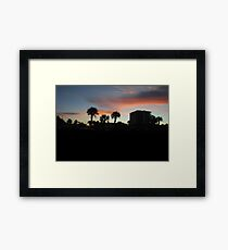Sunset at Jacksonville Beach.  Framed Print