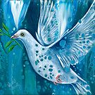 Peace on Earth, Christmas Dove by WendyFranzArt