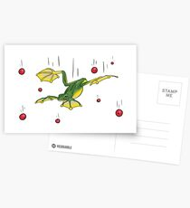 Falling Frog and Cranberries Postcards