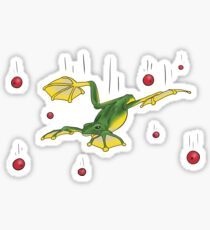 Falling Frog and Cranberries Sticker