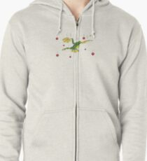 Falling Frog and Cranberries Zipped Hoodie