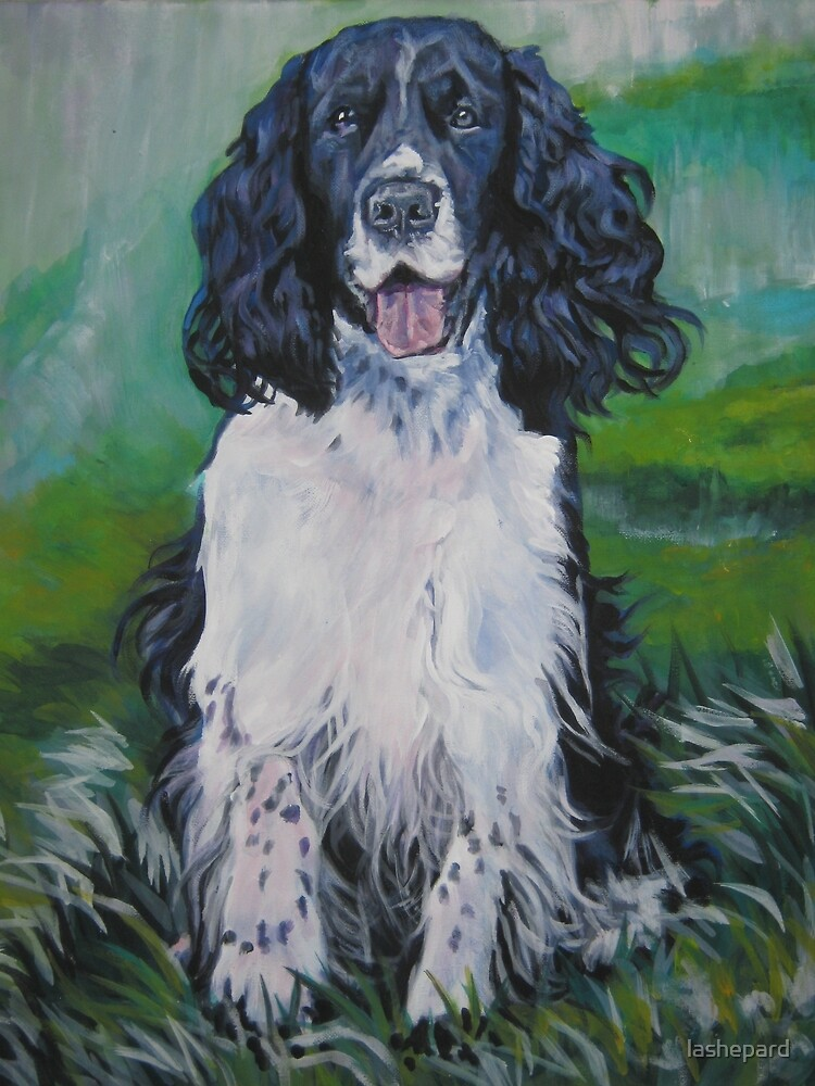 English Springer Spaniel Fine Art Painting by lashepard