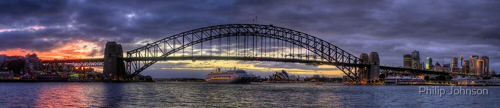 Morning Arrival - Sydney Harbour, Sydney Australia (35 Exposure HDR Pano) - The HDR Experience by Philip Johnson